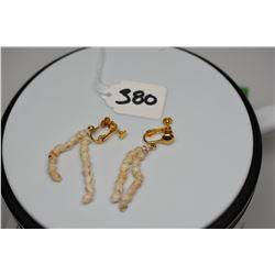 2-Strand Niihau Shell (Momi) Earrings