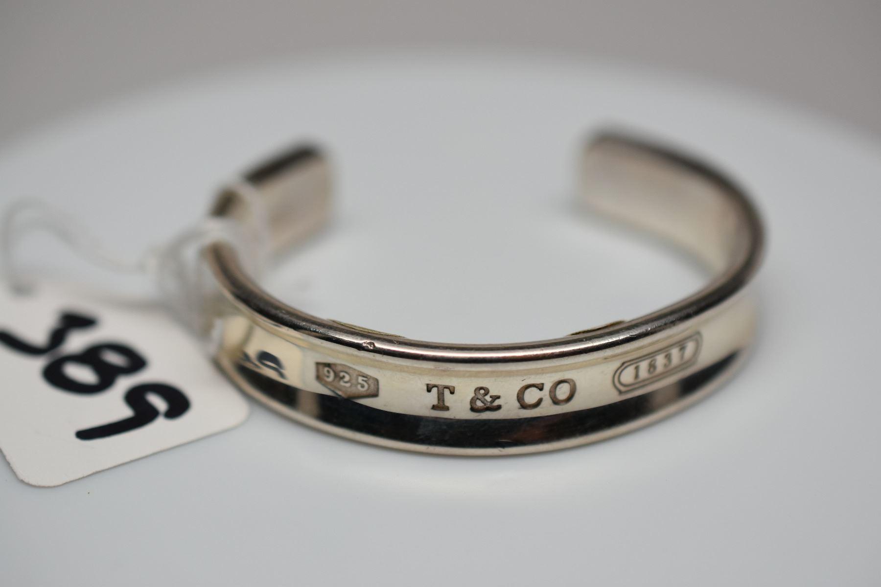 5d4351ed652f2 Tiffany & Co. Sterling Silver Bangle Bracelet 2 1/2