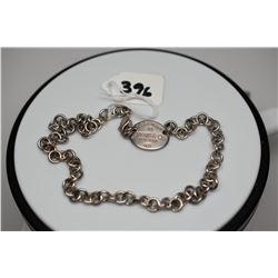 """Tiffany & Co. Sterling Silver Link Necklace 15 1/4"""""""