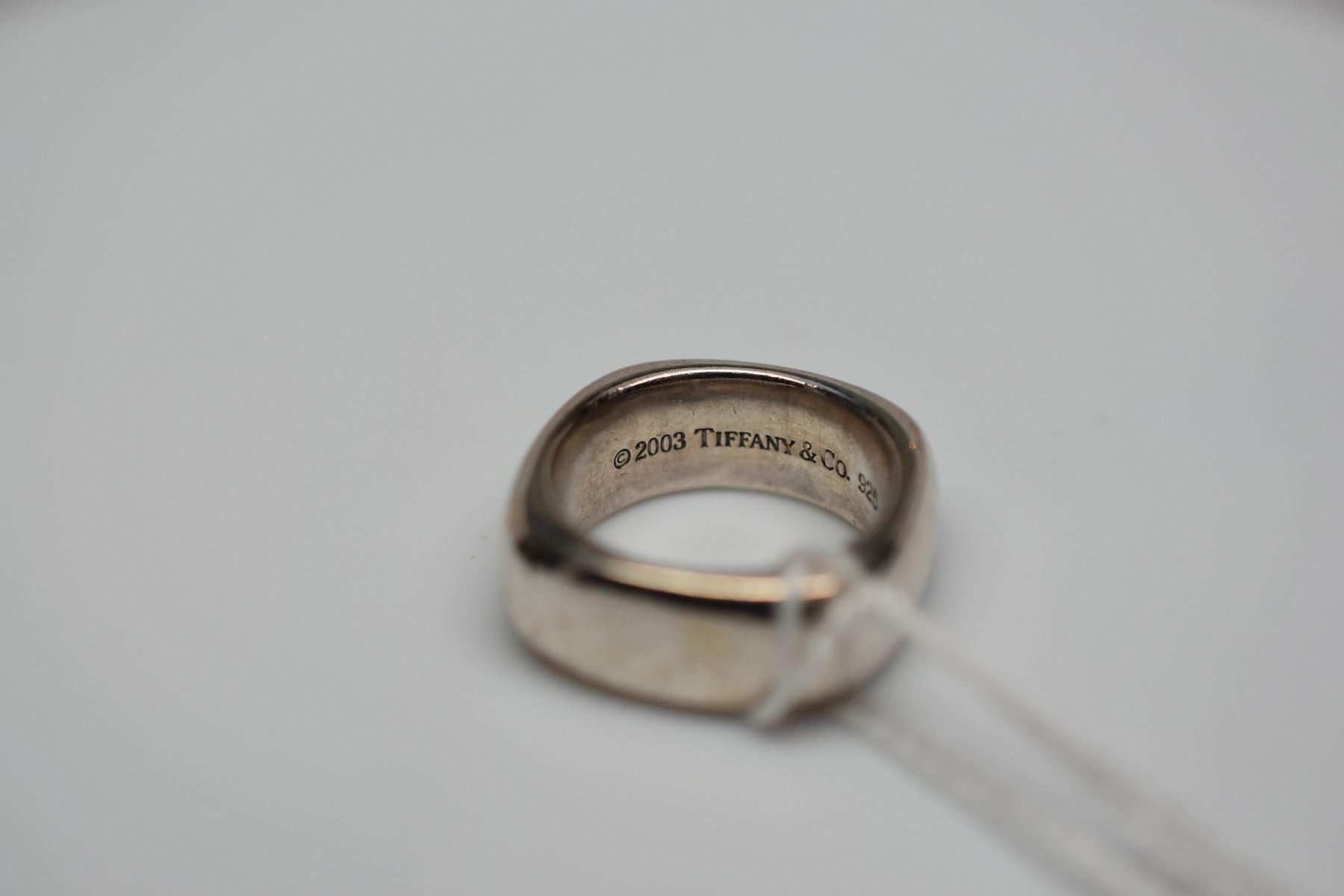 d6a51f3da Image 1 : Tiffany & Co. Sterling Silver Square Cushion Ring Size 6 ...