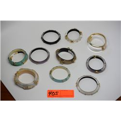 Qty 10 Alexis Bittar Lucite Fashion Bracelets & Bangles - Various Colors & Styles