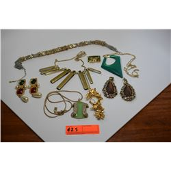 Misc. Designer Fashion Jewelry: Necklaces, Earrings, Timepiece (St. John, etc.)