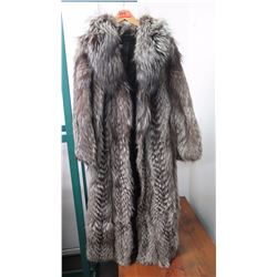 Authentic Fur Coat - Silver Fox, Full Length (Osman Ali, Finland)