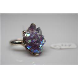 Amethyst Crystal Ring - 23 x16.5mm Amethyst, 925 Silver, 11.1 g