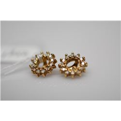 Pair of Earring Jackets w/Diamonds - Each w/12 Diamonds (.12 ct), Imperfect Clarity