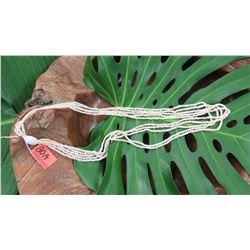 "Niihau Shell Lei - 5 Strands, 40"" Momi Kua'ula  (Off White ""Dove Shells"")"
