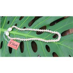"Niihau Shell Lei - Choker Length, Single Strand, 19 1/2"" Momi Kiko Kiko (Spotted ""Dove Shells"""
