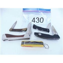 5 Folding pocket knives