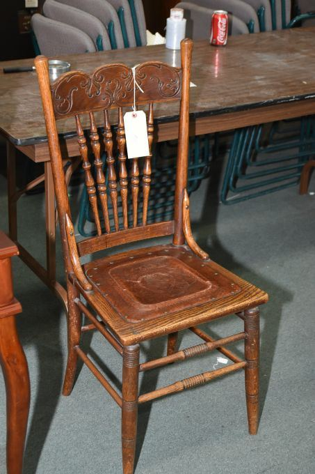 Tremendous Antique Oak Canadiana Spindle And Pressed Back Chair With Cjindustries Chair Design For Home Cjindustriesco