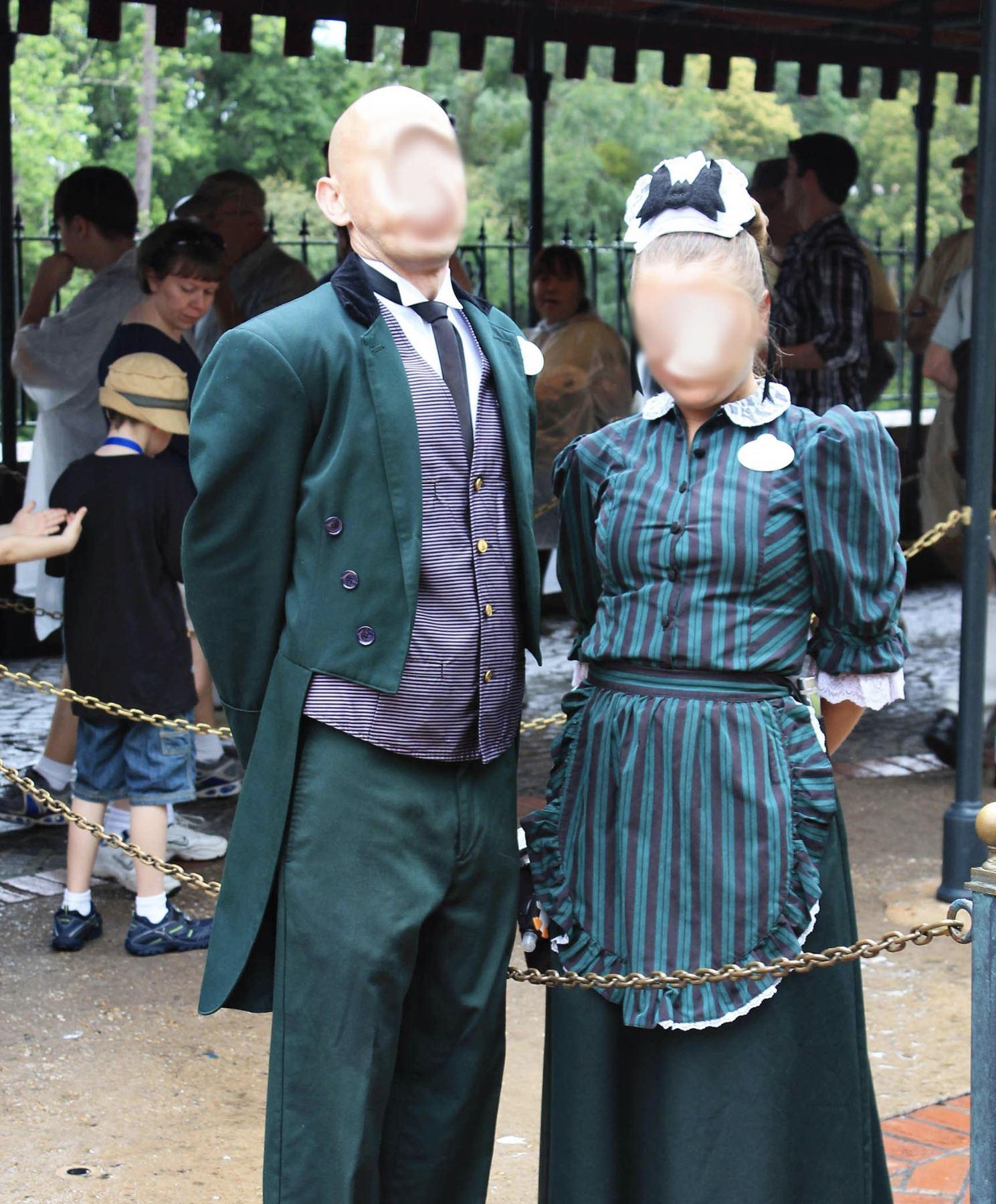 Disneyland Haunted Mansion cast member costume