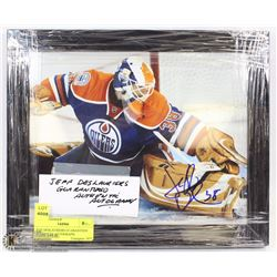JEFF DESLAURIERS GUARANTEED AUTHENTIC AUTOGRAPH