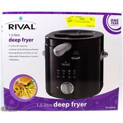 NEW 1.5 L RIVAL DEEP FRYER
