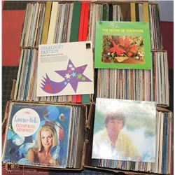 LOT OF 6 BOXES OF  ASSORTED RECORDS