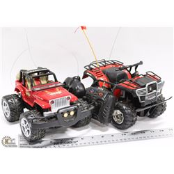 TWO RADIO REMOTE CONTROL JEEPS WORKING WITH NEW