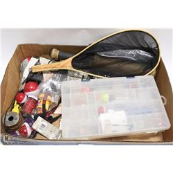 LARGE BOX W/FISHING GEAR INCLUDING