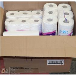 BOX OF ASSORTED TOILET PAPER