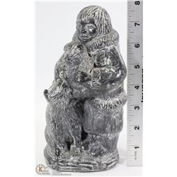 """8"""" TALL ORIGINAL ESKIMO CARVING BY WOLF"""