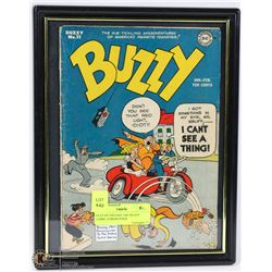 FRAMED VINTAGE 1947 BUZZY COMIC, FORERUNNER