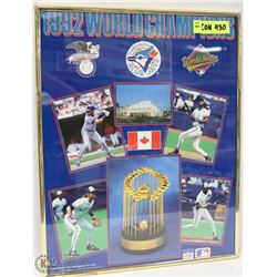 1992 WORLD CHAMPION BLUE JAYS PICTURE