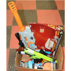 2 SUPER SOAKERS , 2 BIG NERF GUNS AND MORE