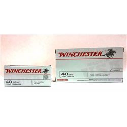 2 Boxes of Winchester 40 S&W
