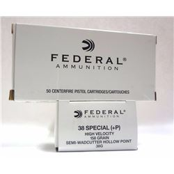2 Boxes of Federal Ammunition 38 Special High Velocity.