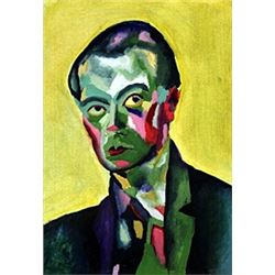 Self-Portrait  1934'  Oil on Paper  - R. Delaunay