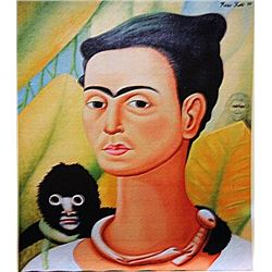 Frida Kahlo - Self Portrait with Monkey