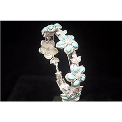 Gorgeous White Sapphire & Topaz Silver Bracelet