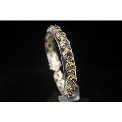 Dazzling Blue Topaz Silver Bracelet