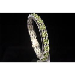 Exquisite Peridot Silver Bracelet