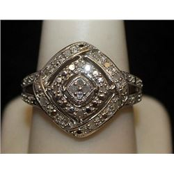 Lady's Fancy Silver Ring with Diamonds (83I)