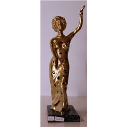 Gold over Bronze Sculpture -  after Salvador Dali