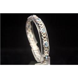 Fine Topaz Silver Bracelet