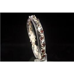 Lavish Ruby Silver Bracelet