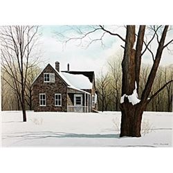 """Lithograph """"North Fork""""  Helen Rundell"""