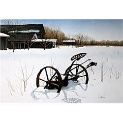 "Lithograph ""Snow Shadows""  Helen Rundell"