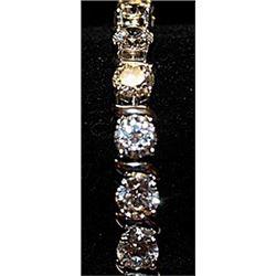 Beautiful Russian Cubic Zirconia SS Bracelet.