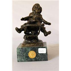Tobogganeers - Bronze Sculpture - after Dennis Smith