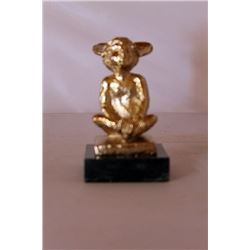 Mickey's Ears - Gold over Bronze Sculpture - after Dennis Smith