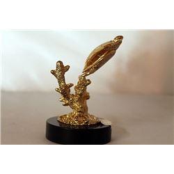 Sea Turtle - Gold over Bronze Sculpture after SPI