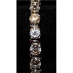 Gorgeous Cubic Zirconia Sterling Silver Bracelet.