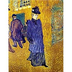 "Print ""Jane Avril Leaves the Moulin Rouge""  Toulouse Lautrec"