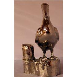 Sea Pelican - Silver Sculpture
