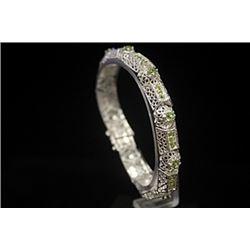 Dazzling Russian Alexandrite Silver Bracelet