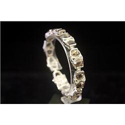 Stunning Smokey Quartz Silver Bracelet
