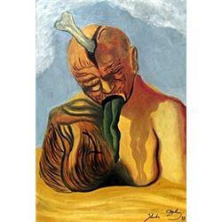 Oil on Paper - Salvador Dali
