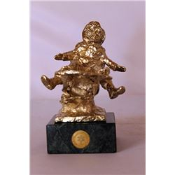 Gold over Bronze Sculpture - after Dennis Smith