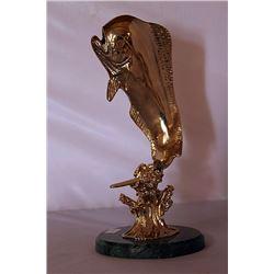 Fish - Gold over Bronze Sculpture after SPI