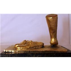 Gold over Bronze Sculpture -  after Salvador Dali